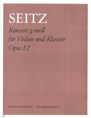 Konzert g-moll op. 12 Friedrich Seitz Partition Violon - laflutedepan