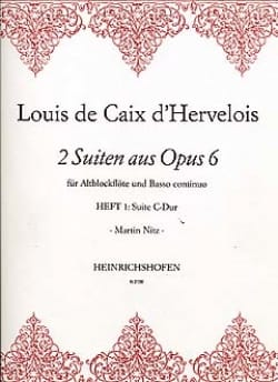 2 Suiten Op. 6 - Heft 1 d'Hervelois Louis de Caix laflutedepan