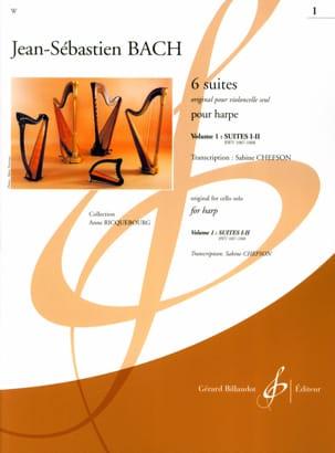 6 Suites - Volume 1 -harpe BACH Partition Harpe - laflutedepan