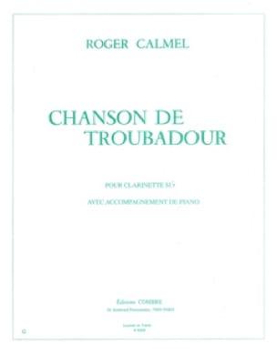 Chanson de troubadour - Roger Calmel - Partition - laflutedepan.com