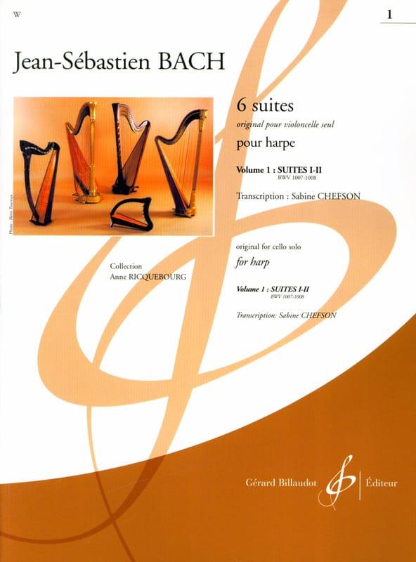 6 Suites - Volume 1 -harpe - BACH - Partition - laflutedepan.be