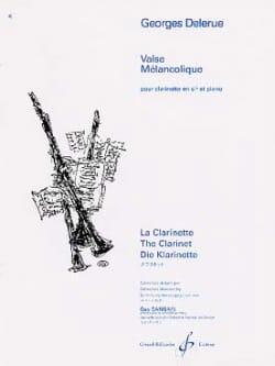 Valse mélancolique Georges Delerue Partition Clarinette - laflutedepan