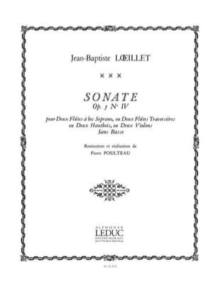 Sonate Op 5 N° 4 - Loeillet Jb / poulteau - laflutedepan.com