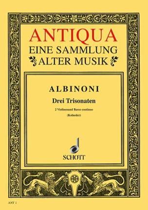 3 Triosonaten op. 1/10-12 -Stimmen ALBINONI Partition laflutedepan