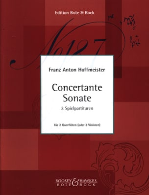 Concertante Sonate - 2 Flûtes Ou 2 Violons HOFFMEISTER laflutedepan