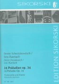 24 préludes et fugues op.34 CHOSTAKOVITCH Partition laflutedepan