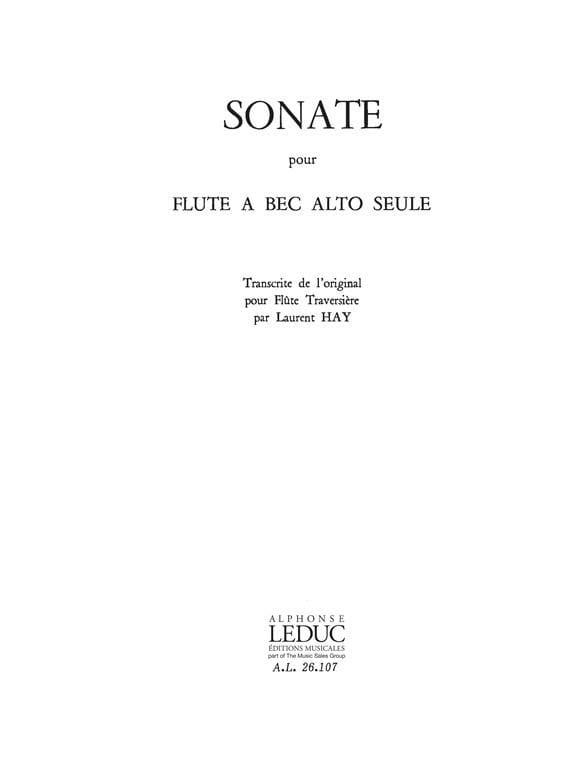 Sonate - flûte à bec alto - laflutedepan.com