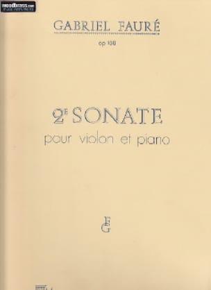 Sonate n° 2 op. 108 - FAURÉ - Partition - Violon - laflutedepan.com