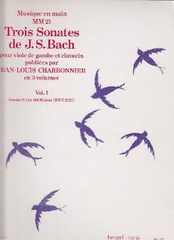 3 Sonates Volume 1 - Sonate N°1 En Sol Majeur Bwv 1027 laflutedepan