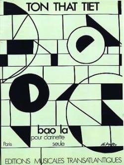 Bao la Tiet Ton-That Partition Clarinette - laflutedepan