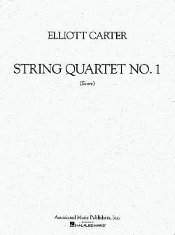 String quartet n° 1 - Score Elliott Carter Partition laflutedepan