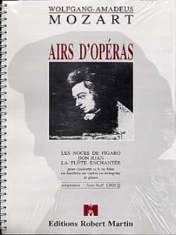 Airs d'opéras - Flûte ou clarinette ... piano MOZART laflutedepan