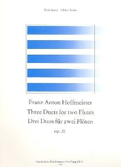 3 Duos op. 20 - 2 Flöten HOFFMEISTER Partition laflutedepan