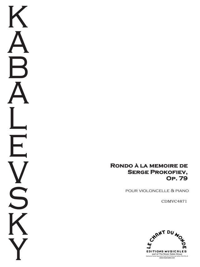 Rondo à la mémoire de Prokofiev, Op. 79 - laflutedepan.com