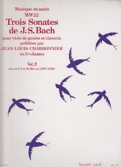 3 Sonates - Volume 2 : Sonate n° 2 en ré maj. BWV 1028 laflutedepan