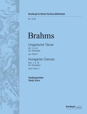 Ungarische Tänze Nr. 1, 3, 10 - Conducteur Poche BRAHMS laflutedepan