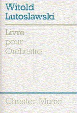 Livre pour orchestre - Score LUTOSLAWSKI Partition laflutedepan
