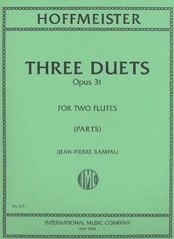 3 Duets op. 31 - 2 Flutes HOFFMEISTER Partition laflutedepan