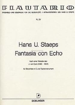 Hans Ulrich Staeps - Fantasia con echo - Partition - di-arezzo.fr