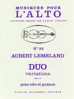 Duo Variations op. 77 Aubert Lemeland Partition 0 - laflutedepan