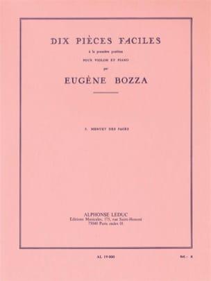 Menuet des Pages Eugène Bozza Partition Violon - laflutedepan