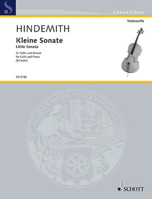 Kleine Sonate HINDEMITH Partition Violoncelle - laflutedepan