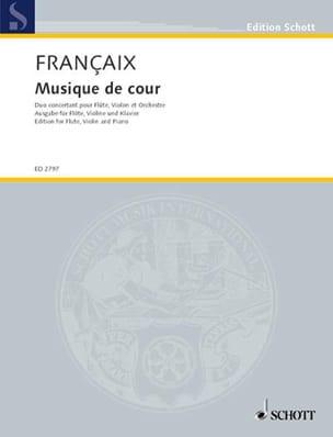 Musique de Cour - flûte, violon, piano FRANÇAIX Partition laflutedepan