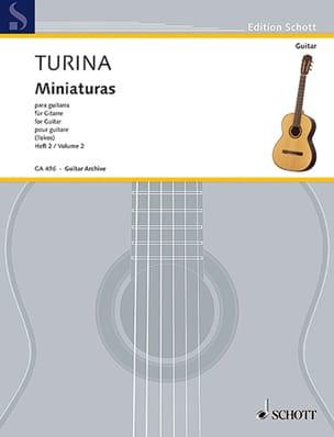 Miniaturas -Guitarra TURINA Partition Guitare - laflutedepan