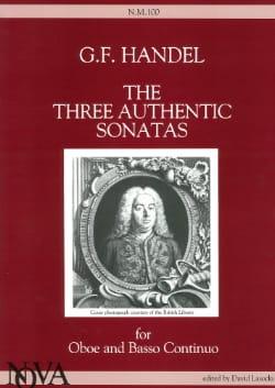 3 Authentic Sonatas - Oboe and Bc HAENDEL Partition laflutedepan