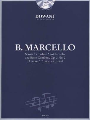 Sonate Op 2 N°2 en ré mineur Benedetto Marcello Partition laflutedepan