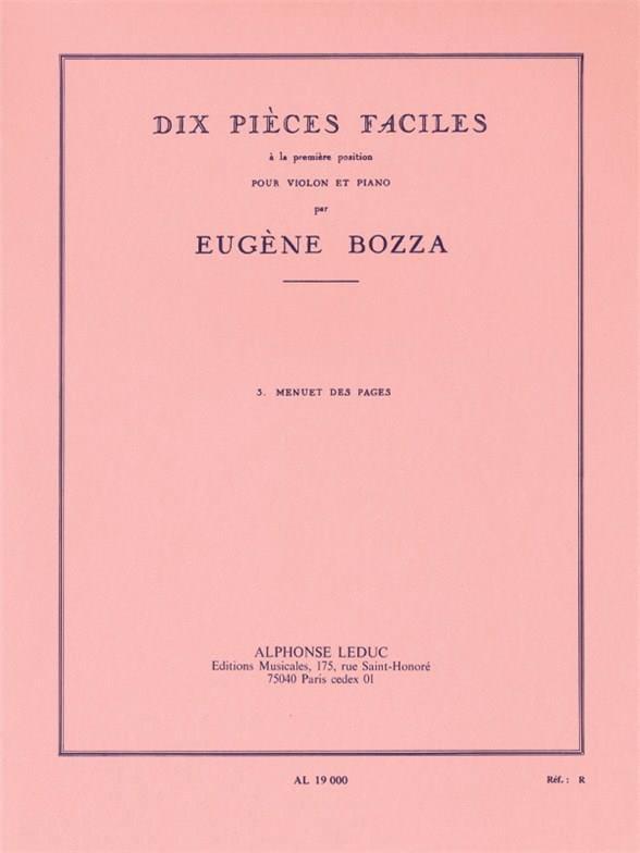 Menuet des Pages - Eugène Bozza - Partition - laflutedepan.com