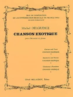 Chanson exotique Michel Delgiudice Partition Clarinette - laflutedepan