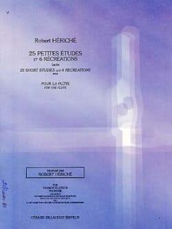 25 Petites études et 6 Récréations Robert Hériché laflutedepan