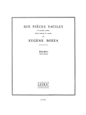 Eili, Eili Eugène Bozza Partition Violon - laflutedepan