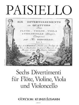 6 Divertimenti -Flöte Violine Viola Violoncello - Stimmen laflutedepan