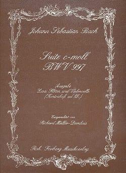 Suite c-moll BWV 997 -2 Flöten Violoncello BACH laflutedepan