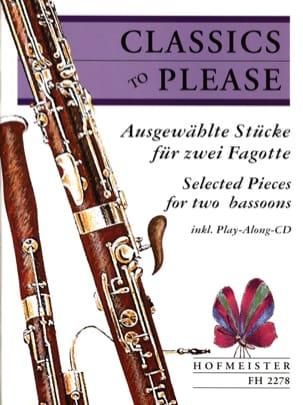 Classics To Please - 2 Fagotte Partition Basson - laflutedepan