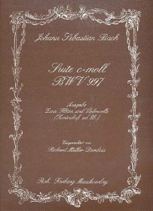 Suite c-moll BWV 997 -2 Flöten Violoncello - BACH - laflutedepan.com