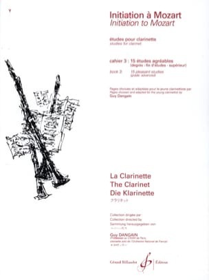 Initiation à Mozart - Cahier 3 - Clarinette laflutedepan