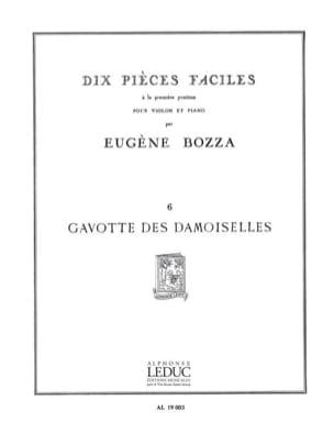 Gavotte des demoiselles Eugène Bozza Partition Violon - laflutedepan