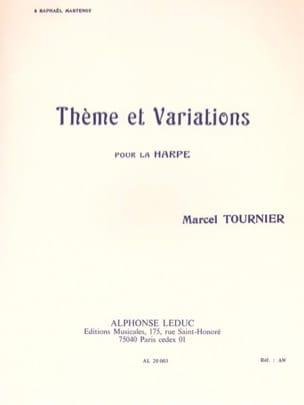 Thème et Variations Marcel Tournier Partition Harpe - laflutedepan