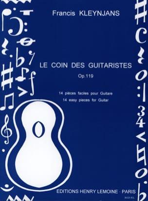 Le coin des guitaristes op. 119 Francis Kleynjans laflutedepan
