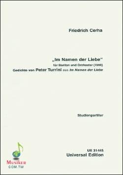 Im Namen der Liebe 1999 Friedrich Cerha Partition laflutedepan