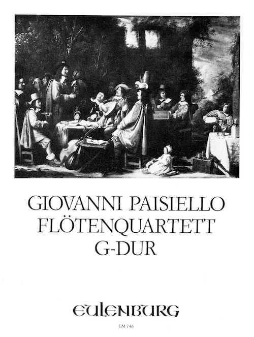 Flötenquartett G-Dur -Stimmen - Giovanni Paisiello - laflutedepan.com