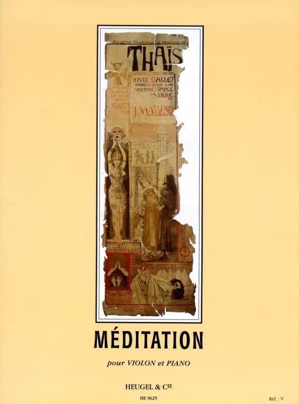 Méditation de Thaïs - MASSENET - Partition - Violon - laflutedepan.com