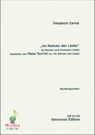Im Namen der Liebe 1999 - Friedrich Cerha - laflutedepan.com