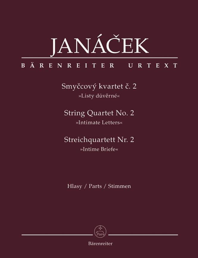 Quatuor à Cordes N° 2 - JANACEK - Partition - laflutedepan.com