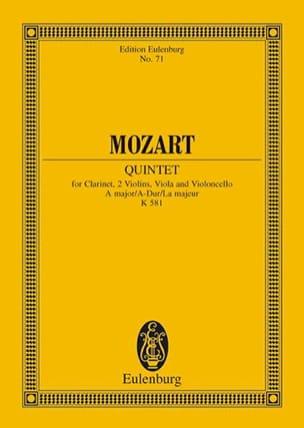 Quintett A-Dur Kv 581 la M. MOZART Partition laflutedepan