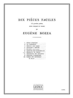 Serenata al Pincio Eugène Bozza Partition Violon - laflutedepan