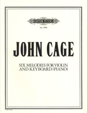 6 Melodies - CAGE - Partition - Violon - laflutedepan.com